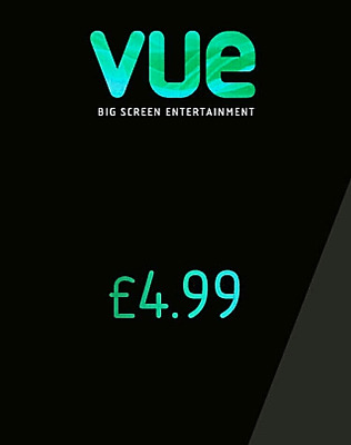 X2 VUE ANY Cinema Adult Tickets For £4.99 UK - Code To Buy Direct At MyVue.com