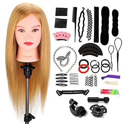Neverland Beauty 22 Inch 100% Real Human Hair Training Head Practice Mannequin &
