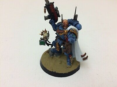 Warhammer 40K Space Marines Ultramarines Captain in Phobos Armour Shadowspear A