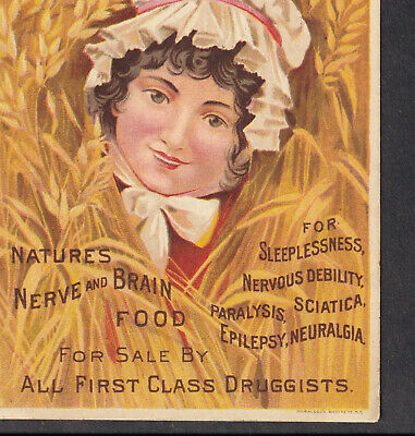 Quack Dr Victorian Hysteria Cure-All Morphine Opium Habit Brain Food Trade Card
