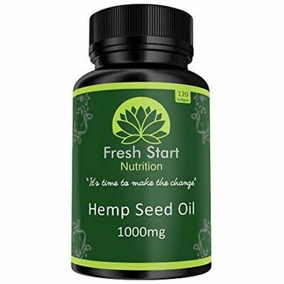Hemp Seed Oil Capsules 1000mg | 4 Month Supply High Strength Cold Pressed Hemp |