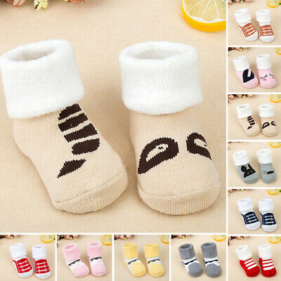 Unisex Cute Cartoon Newborn Baby Kids Toddler Comfortable Cotton Socks Winter