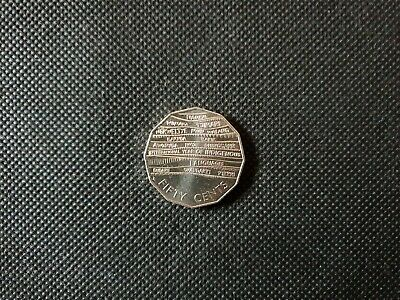 2019 50cent coin. Recognition of the Indigenous Languages. ( Uncirculated ).