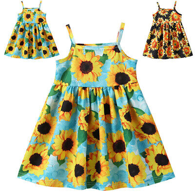 Baby Dress Princess Party Strappy Dress Cocktail Fashion Toddler Swing