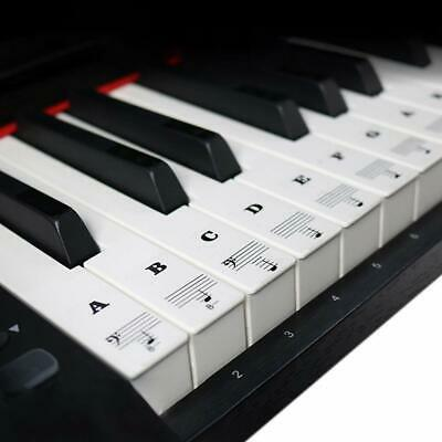Removable Piano Keyboard Stickers for 88/61/49 Full Set Transparent (Beginners)
