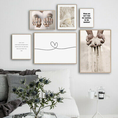 Motivational Quotes Fashion Poster Nordic Abstract Canvas Wall Art Print Picture