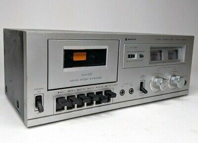 Sanyo Compact Stereo Silver Black Cassette Deck Model RD 4550 - Tested