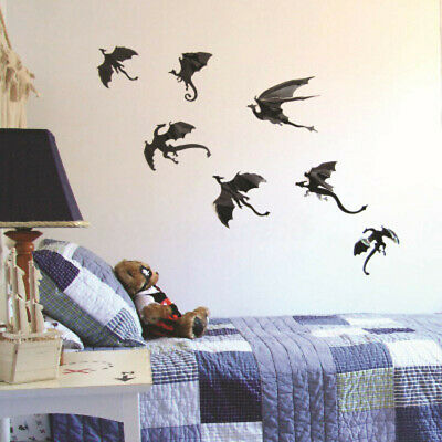 US Gothic Dragons Wall Sticker 3D Dragon Game of Thrones Inspired Home Decor ~