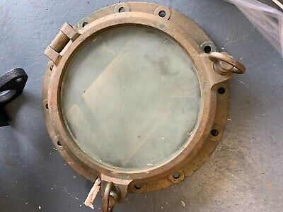 A REAL  Ships Porthole  Brass   Huge and Very Heavy  50cm/20inches