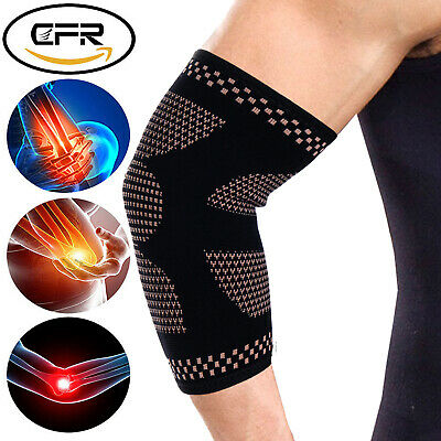 Elbow Support Brace Compression Arm Sleeves Copper Infused Joint Pain Relief LX6
