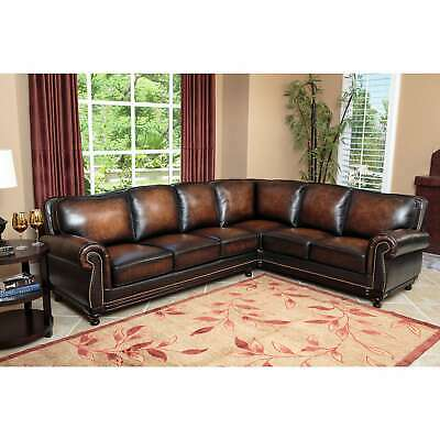 Fantastic Abbyson Verona Fabric Sectional Sofa Brown Cream Caraccident5 Cool Chair Designs And Ideas Caraccident5Info
