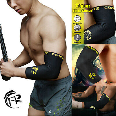 Elbow Supports Compression Sleeve Arm Brace Wrap - Sport Recovery Copper Infused
