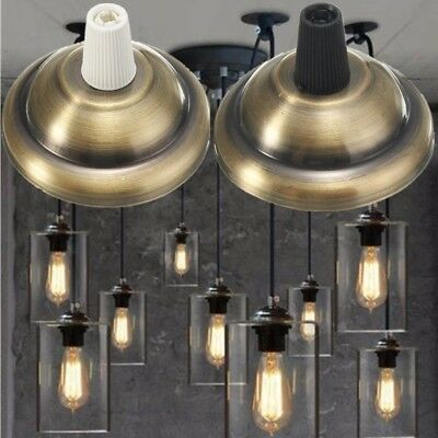 Retro Vintage Antique Edison Light Bulb Ceiling Rose Hook Plate Fitting fixture