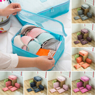 6pc Travel Storage Bag Clothes Underwear Sorting Luggage Organizer Pouch Packing