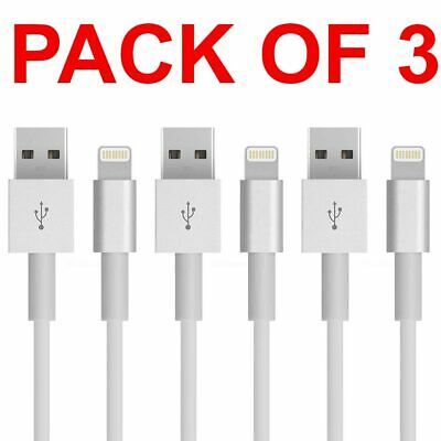 3x USB Lightning Charger Data Sync Cable Lead For i-Phone 6 7 8 Plus UK