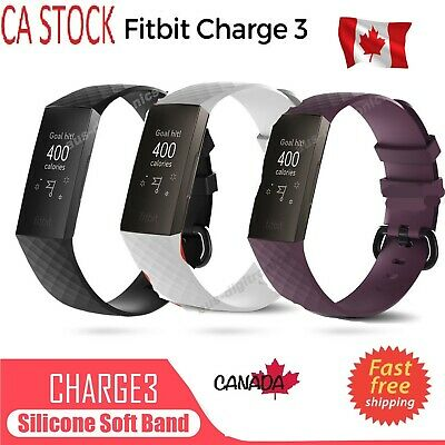 Fitbit Charge 3 Watch Band Replacement Silicone Bracelet Wrist Strap Small-Large