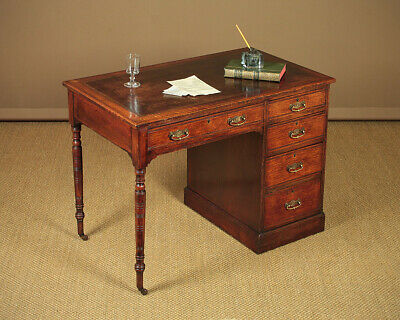 Small Antique Edwardian Era Oak Writing Desk c.1900.