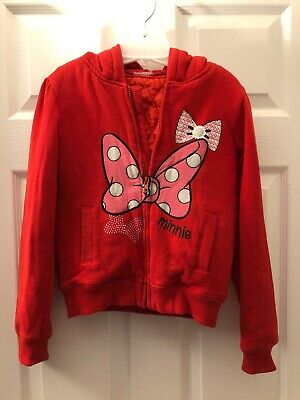 Disney Quilted Minnie Mouse Jacket Guessing At Size Tag Cut Out 10 To 14