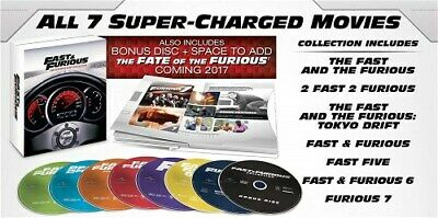 FAST & FURIOUS THE ULTIMATE RIDE COLLECTION New Sealed DVD 1 2 3 4 5 6 7