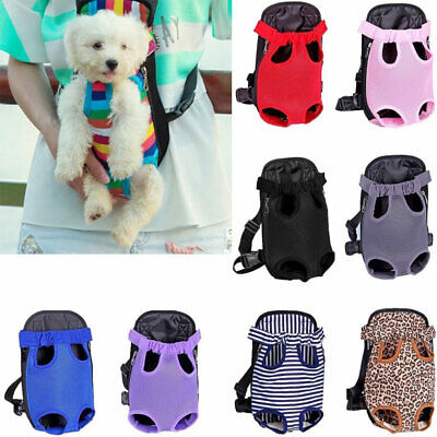 Nylon Mesh Pet Puppy Dog Cat Carrier Backpack Front Net Bag Tote Sling Carrier #