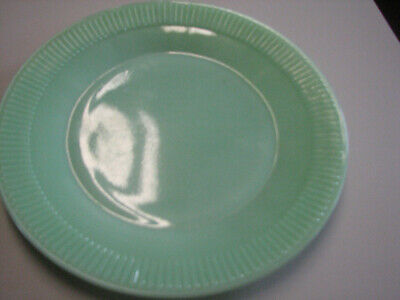 Vintage Fire King Oven Ware Jadeite Ribbed Dinner Plate - 9""