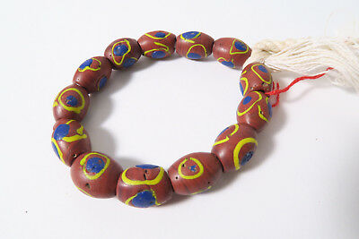 Antike Glasperlen Murano Eye beads AA98 Skunk African trade beads Afrozip