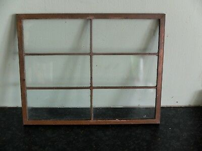 Arts and crafts small windows with copper frame and glass - circa 1900