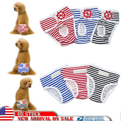 Washable Female Dog Pet Reusable Diaper Belly Band Sanitary Short Underwear Pant