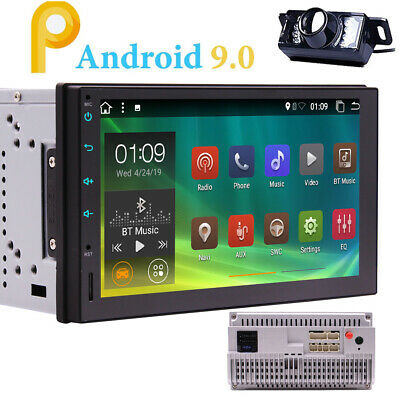"""7"""" Android 9.0 2+32G Car Radio Double 2 Din Bluetooth GPS Touchscreen Stereo+Cam"""