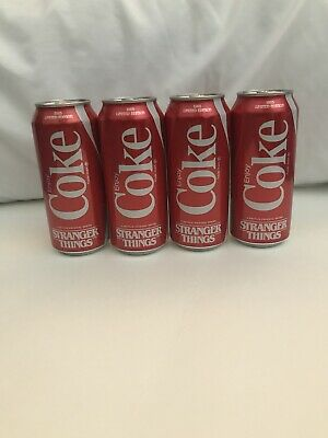 Stranger Things Coca Cola 1985 Edition 4x 16 Oz Can Limited Edition New Netflix