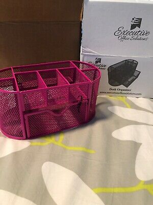 Pleasing Desk Organizer Pink Executive Office Solutions Dark Pink Mesh Home Interior And Landscaping Sapresignezvosmurscom