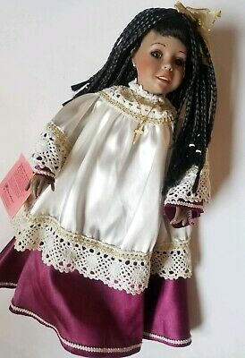 Grace Porcelain Doll Music BoxDoll Plays Amazing Grace 1998 Cindy Shafer Signed