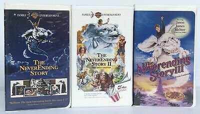 The NeverEnding Story VHS Trilogy (I-III) ~Clamshell Case Releases~ Lot Of 3