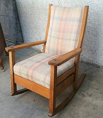 Antique Arts & Crafts Mission Tiger Oak ROCKER ROCKING CHAIR Los Angeles Area