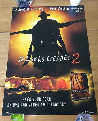 Jeepers Creepers 2 Original Uk Dvd 2003 A2 Movie Double Sided Poster Rare