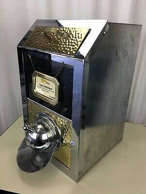 Coffee Bean DISPENSER Bin Stainless / Copper Café Bistro Display Commercial
