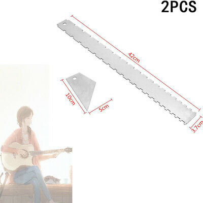 Pro Designed Electric Guitar Neck Notched Straight Edge Fret Rocker Luthier Tool
