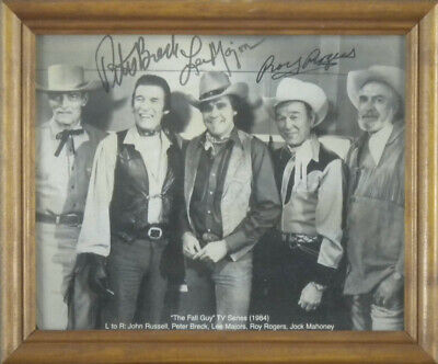 The Fall Guy Tv Cast - Autographed Signed Photograph With Co-Signers
