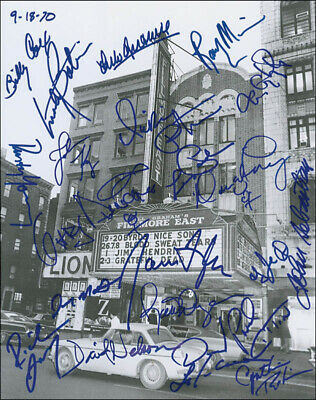 Fillmore East - Autographed Signed Photograph With Co-Signers