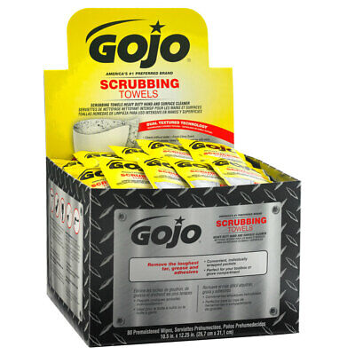 6380-04 Gojo Scrubbing towels wipes (80) individual wrapped