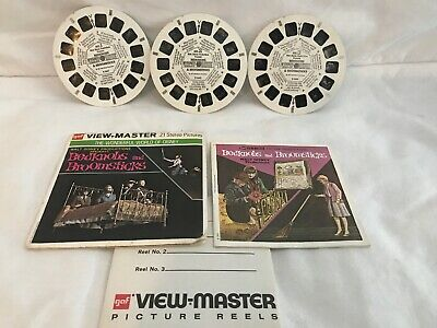 VTG GAF View-Master Set of 3 Reels Walt Disney's Bedknobs and Broomsticks B366