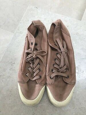Spring Court Tan Leather Hightops Size 38