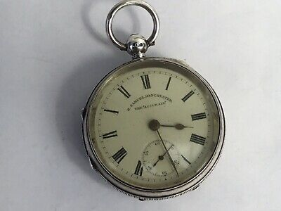 A Victorian English Silver Pocket Watch ' The Accurate ' by H Samuel, 1899