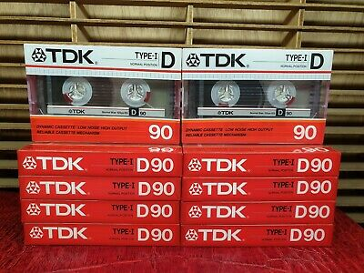 Tdk D90 (×10) : 1985 : Made In Japan : New & Sealed