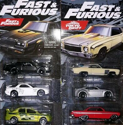 2019 Hot Wheels Fast and the Furious Walmart Exclusive -  Complete Set of 6 Cars