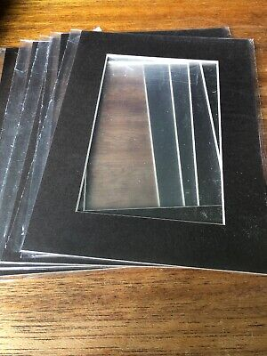 """Brown Picture Photo Frame Mounts Bevel Cut Mount pk of 5 8x6 For Pic 3.75x3.75"""""""