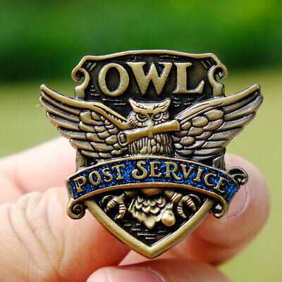 Harry Potter OWL Post Service Brooch Hogwarts Badge Button Chest Pin Ornament
