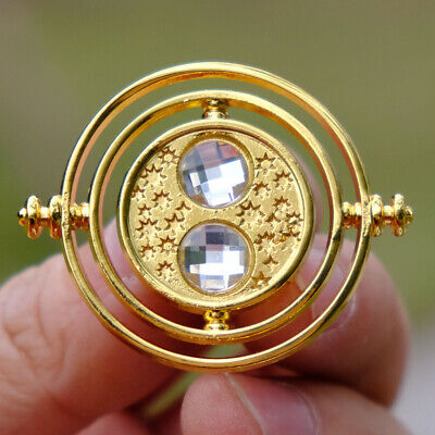 Harry Potter Time Turner Brooch Gold Badge Button Chest Pin Ornament
