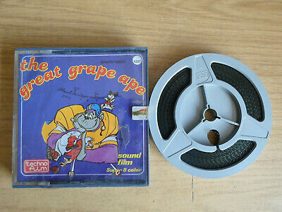 Super 8mm sound 1X200 GRAPEFINGER. The Great Grape Ape cartoon.