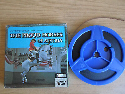 Super 8mm sound 1X200 THE PROUD HORSES OF AUSTRIA. Walt Disney documentary.